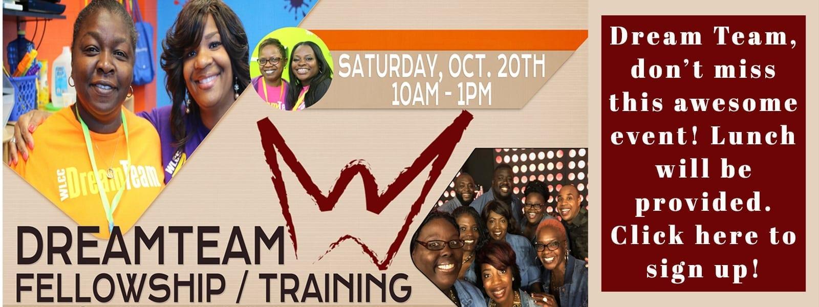 Dream Team Fellowship slide